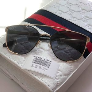 BALMAIN BL2522 Black Gold Sunglasses 62 B #165